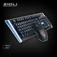 BEST Wired Optical Mechanical Gaming Keyboard & Mouse Rainbow RGB Backlit Combo