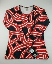 Hot Chillys Womens Chamois Print Scoop Neck Top Size Small