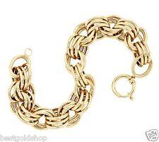 QVC Polished Triple Oval Rolo Link Bracelet Senora Clasp Real 14K Yellow Gold