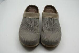 Dansko Suede & Knit Women's Size 39 US 8.5-9 Slip On Clogs Sondra Taupe Shoes