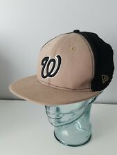 Washington Nationals MLB Authentic New Era 59FIFTY Fitted Cap 7 1/2 Black Khaki