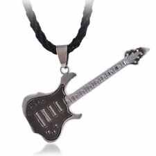 Fashion Stainless Steel Rock Guitar Choker Pendant Necklace Men's Jewelry New