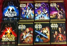 STAR WARS COMPLETE SAGA ON DVD 12 DISCS ORIGINAL THEATRICAL BLUE & RED BOX SETS