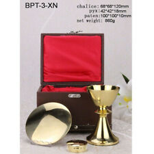 Custom Mass Kit Sick Call Set Chalice Paten Pyx with Case for Church Mass NW860g