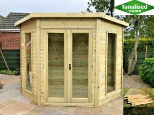 6x6 corner summer house shed summerhouse shiplap workshop CHECK POSTCODES BELOW