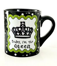 """"""" TODAY, I'M THE QUEEN - TOMORROW, PERHAPS THE WICKED WITCH""""  Ceramic Coffee Cup"""