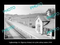 OLD LARGE HISTORIC PHOTO OF LAFFANSBRIDGE TIPPERARY IRELAND RAILWAY STATION 1950