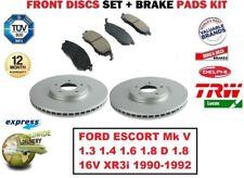 Para Ford Escort Mk V 1.3 1.4 1.6 1.8 16V XR3i 1990-1992 Discos de Freno