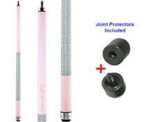 Viper Colours 50-0954 Cashmere Pink Pool Cue Stick 18-21 oz & Joint Protectors