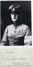 Einar Lundborg Noted Swedish Pilot Captain Swedish Air Force Autograph Died 1931