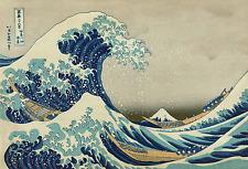 Hokusai 01 La grande onda Poster 70x100 Stampa Papi Arte '800  Pittura