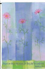 """Evergreen"" Suede Pink Cosmos Garden Mini Flag free shipping"