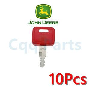 10pcs Fits John Deere Case New Holland NH H800 Hitachi Equipment Ignition Keys