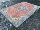 Oushak rugs, Turkish rug, Vintage rug, Handmade rug, Large, Wool | 6,2 x 9,2 ft
