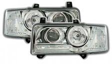 VW Transporter T4 1990-2003 Chrome DRL Devil Angel Eyes Front Headlights Lights
