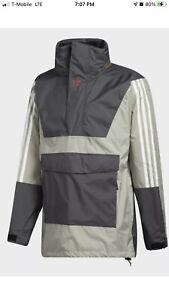 Adidas Anorak 10K Snowboarding Jacket Waterproof Grey Men's Size XXL FJ7501 $200