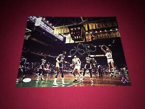 Larry Bird, Autographed (JSA) 11x14 (vs Lakers )Photograph