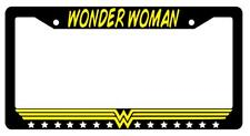 Wonder Woman Black Plastic License Plate Frame Auto Accessory DC
