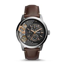 FOSSIL ME1163 Townsman Twist Multifunction Dark Brown Leather 44mm Men's Watch