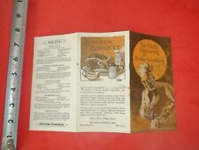 BA454 Vintage 1927 Recipe Brochure Ad Kitchen Bouquet Sauce New Jeresey