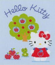 VERVACO  0150488  Hello Kitty  et le Pommier  Broderie  Point de Croix  Compté
