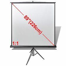 vidaXL Projectiescherm Wit + Statief 160x160 cm (1:1 Formaat) Projector Scherm