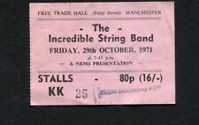 1971 Incredible String Band Concert Ticket Stub Manchester UK Liquid Acrobat