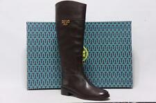 TORY BURCH  JOANNA RIDING BROWN LEATHER BOOTS SHOES 6.5 $495