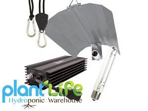 Lumii Black Dimmable 600W Digital Ballast Hydroponic Grow Light Kit