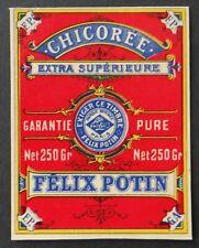 Ancienne étiquette chicorée FELIX POTIN 250gr bleu french label