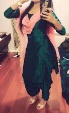 Punjabi Patiala Bollywood Designer Indian silk SALWAR KAMEEZ suit dupatta size L