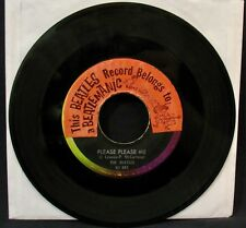 THE BEATLES-Please Please Me+From Me To You 45-VJ #581•Rare BEATLEMANIAC Sticker