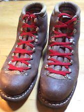 Lowa Mens Hiking Boots Leather Mountaineering Brown Vintage Germany Sz 9n