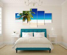 Stretched canvas prints seascape coconut tree Beach print diamond split sea art