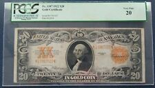 1922 $20 US Gold Certificate Large Note, Fr#1187 S/N K17967027- PCGS VF20