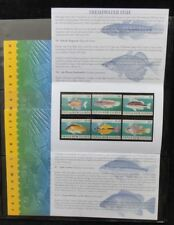 PAPUA NEW GUINEA PNG 2004 Freshwater Fish Wildlife MNH Set in Packsx3(Pap67)