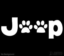 Jeep Dog Paws Decal Outdoor Vinyl Sticker Cars Windows Walls Buy 2 Get 1 Free