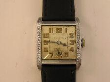 Vintage Bulova Watch Art Deco 1920's Fancy Case