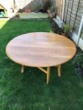 Ercol Vintage Blonde Elm Oval Drop Leaf Dining Table  Good Condition £80