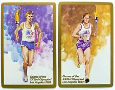 PAIR SWAP CARDS. 1984 LOS ANGELES OLYMPICS. GILT EDGE LIMITED EDITION CONGRESS