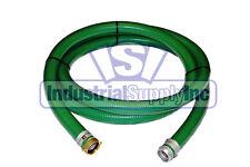 "3"" x 20 ft Heavy Duty Green SuperFlex Trash Pump Water Suction Hose"