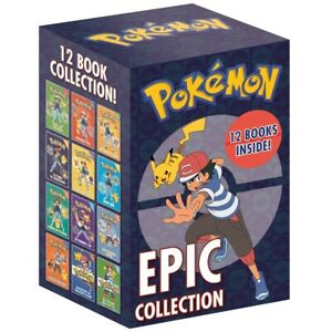 Pokemon Epic Collection: 12 Book Box Set (Book Collection), Books, Brand New