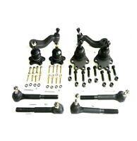 10 Piece Kit Front Inner Outer Tie Rod Ends Upper Lower Ball Joints Idler Pit...