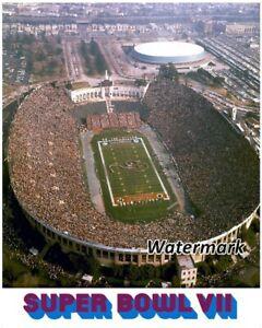 NFL Super Bowl VII Los Angeles Memorial Coliseum Aerial View Color 8 X 10 Photo