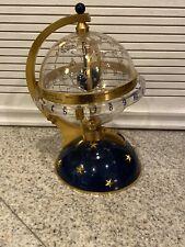 Rare Vintage Gubelin Mid Century Globe World Time Clock
