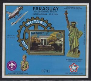 Paraguay 1985 Rotary International SPECIMEN S/S set Sc# C594-95 mint