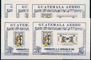 [P50080] Guatemala 1971 5x good Imperf Sheet MNH Very Fine