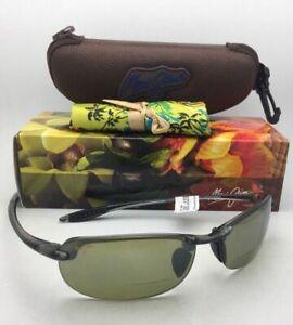 MAUI JIM Sunglasses MAKAHA READER + 2.5 HT 805-1125 Smoke Grey with Green Lenses