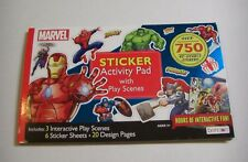 MARVEL SUPERHERO STICKER BOOK 750+ Superheroes Stickers Lot PAD & WRITING PAPER