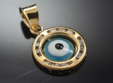 Evil Eye Good Luck Pendant 14k Real Gold 26123
